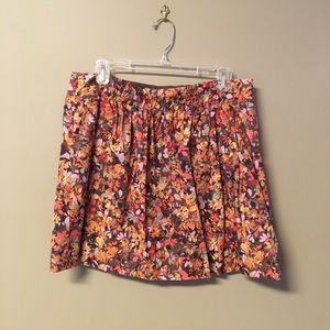 J. Crew Floral print skirt, size 14